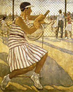 Lotte Laserstein (1898-1993) Tennisspielerin, 1929 Öl auf Leinwand, 110 × 95,5 cm Privatbesitz Foto: Berlinische Galerie © VG Bild-Kunst, Bonn 2018